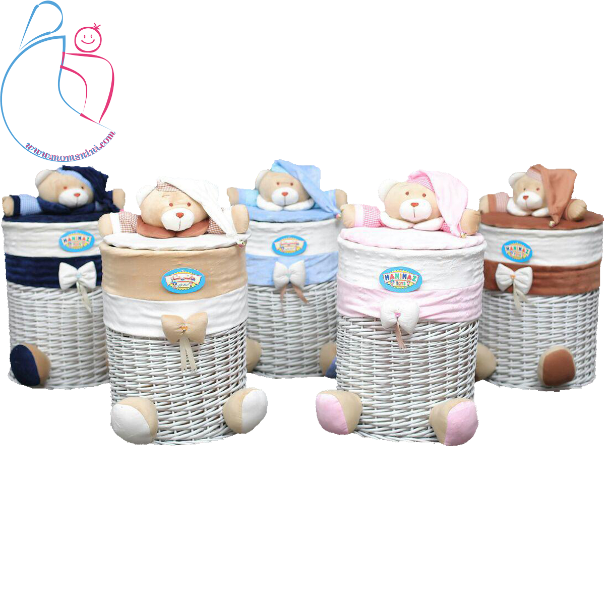 سبدلباس مدل خرسی تدی ( teddy bear decorated basket)