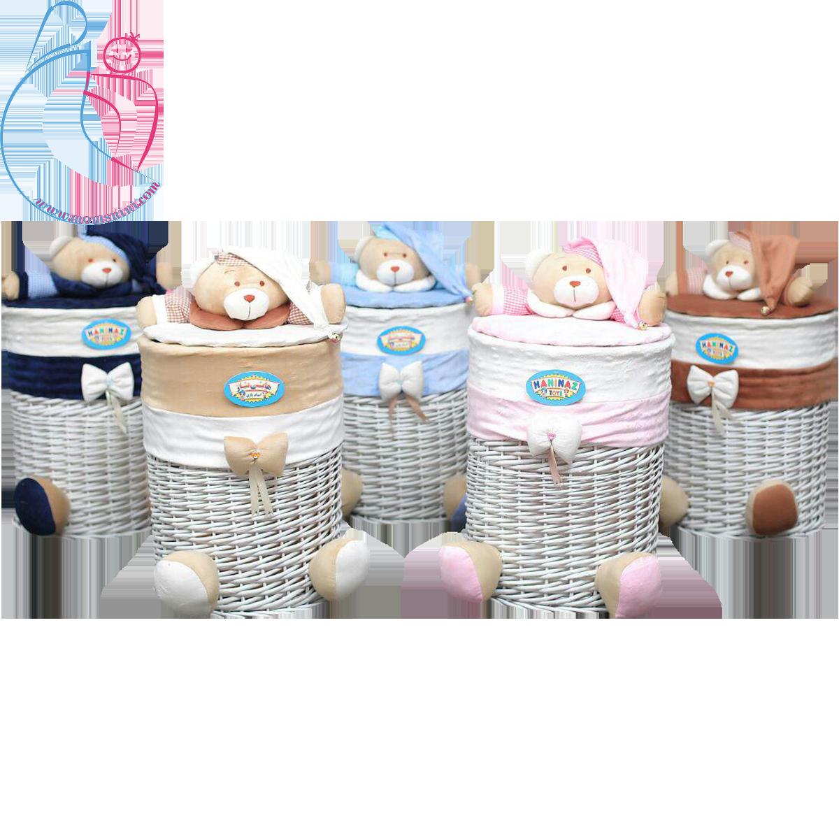 سبدلباس مدل خرسی تدی ( teddy bear decorated basket)