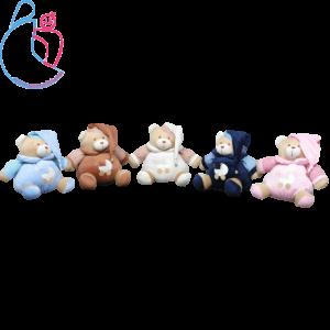 عروسک زنگوله ای کودک مدل خرسی تدی (teddy bear)