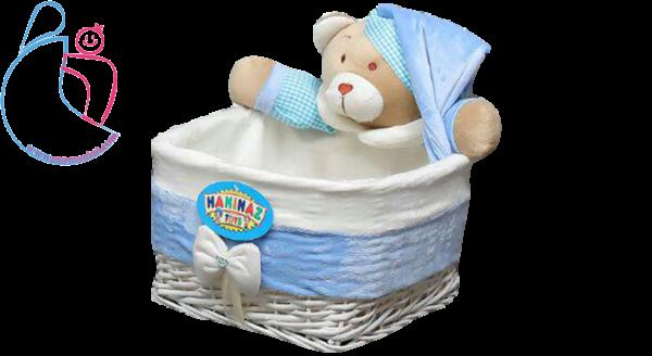 سبدلوسیون اتاق کودک مدل خرسی تدی ( teddy bear basket)