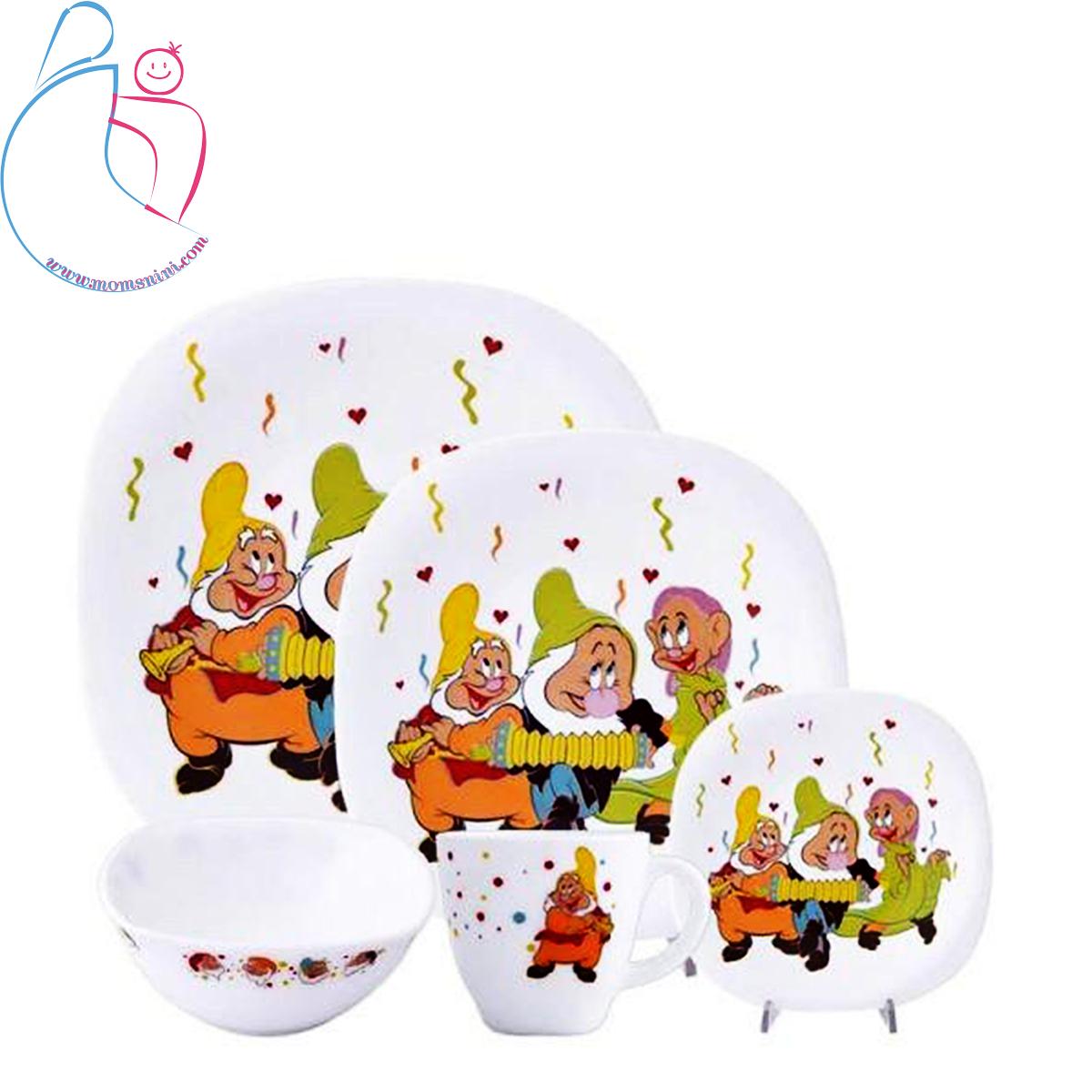 سرویس پارس اپال کودک ۵ تکه طرح هفت کوتوله ها