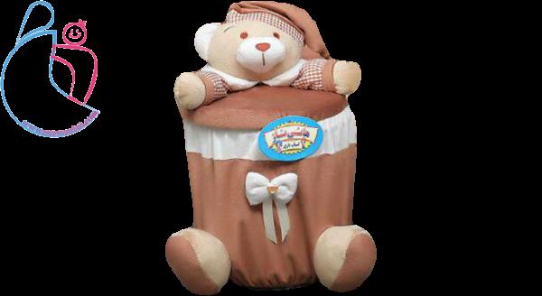 سطل زباله مدل خرسی تدی ( teddy bear decorated garbage)