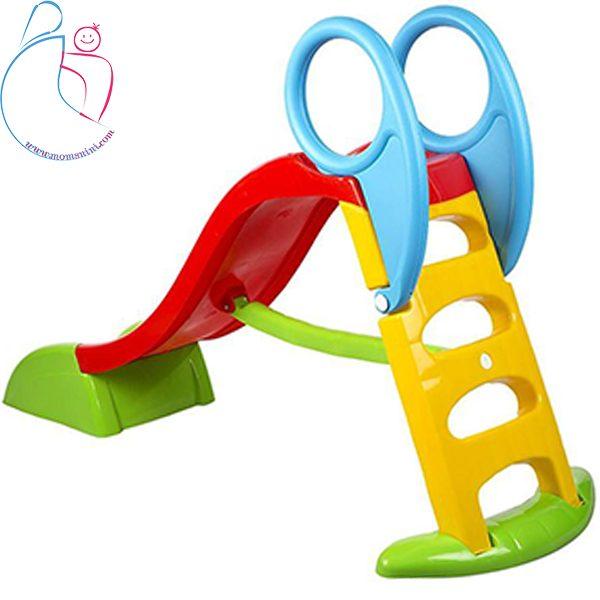 سرسره کودک حفاظدار سه پله مدل باران