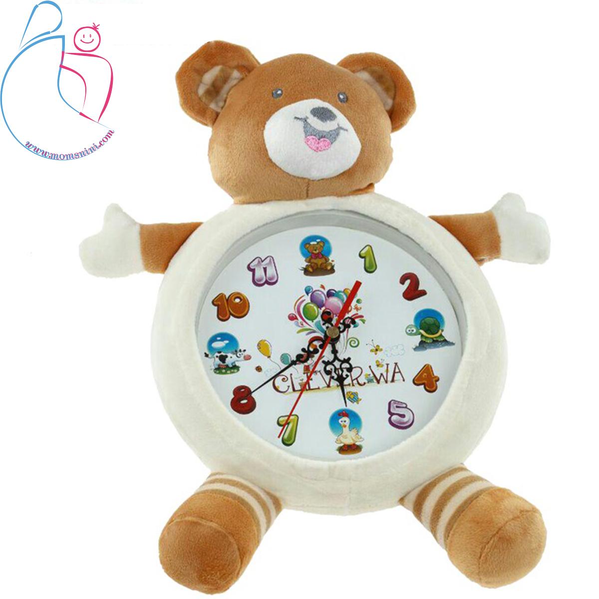 ساعت پولیشی اتاق کودک طرح خرس برند Clever Wa