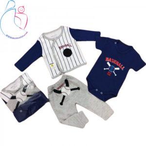 لباس سه تیکه بی بی وان طرح بیسبال