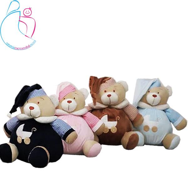 عروسک زنگوله ای کودک مدل خرس تدی (teddy bear)