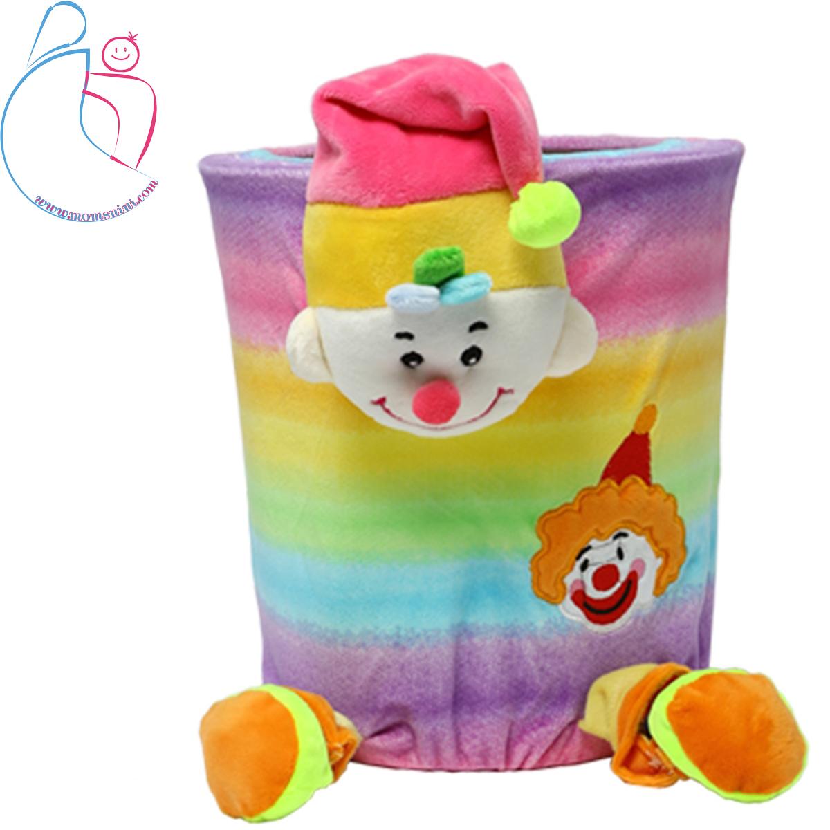 سطل زباله اتاق کودک مدل دلقک