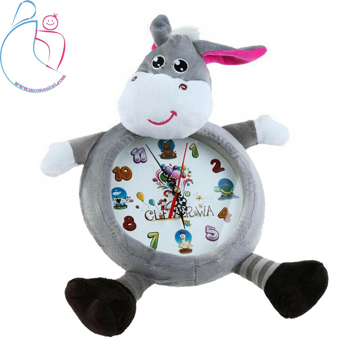 ساعت پولیشی اتاق کودک مدل الاغ