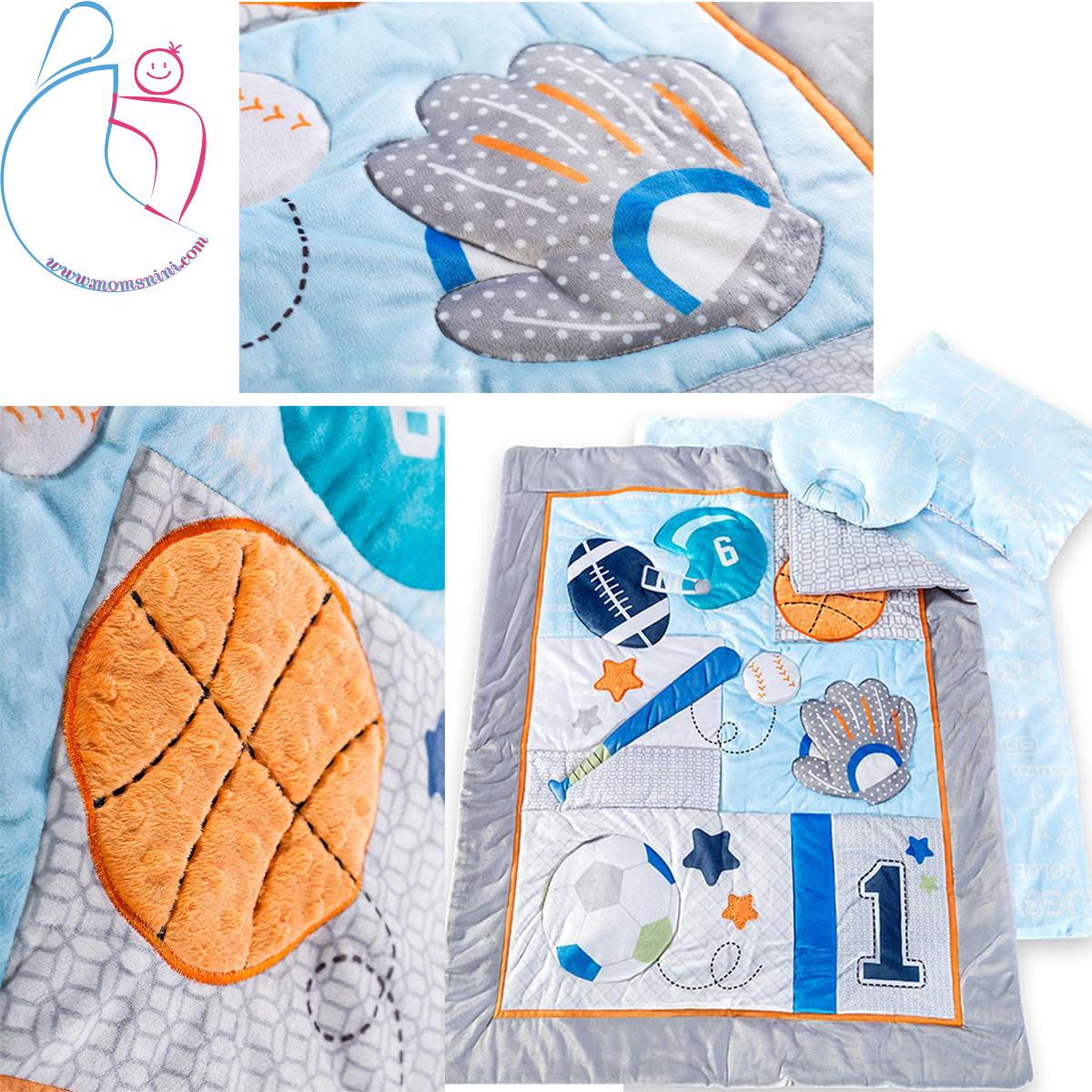 سرویس خواب چهار تکه roseborn طرح STAR GAME-BLUE