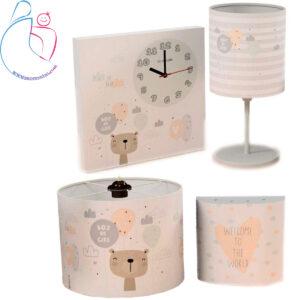 ست4تکه ساعت دیواری و روشنایی اتاق کودک