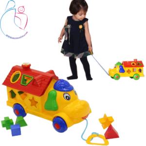 اسباب بازی فکری و آموزشی اشکال هندسی مدل هپی پاپی