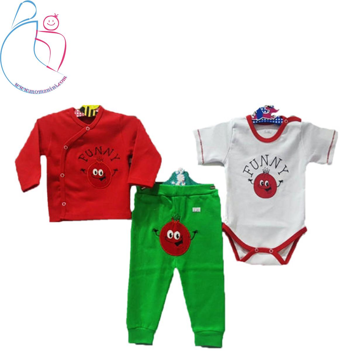 ست ۳ تکه لباس کودک Good mark طرح انار