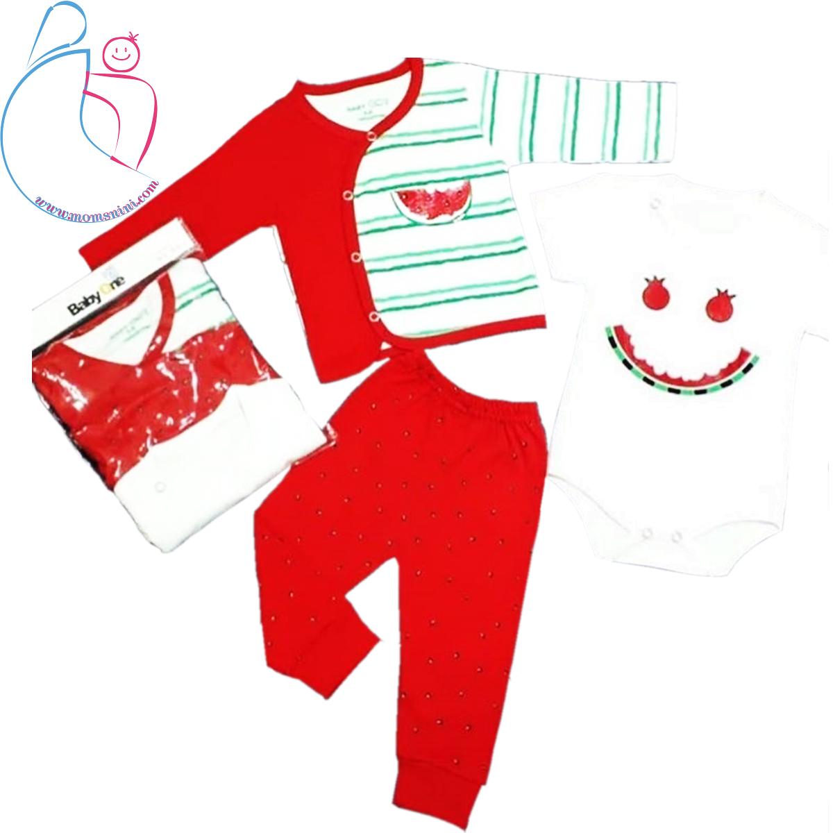 ست ۳ تکه لباس کودک بیبی وان طرح هندوانه