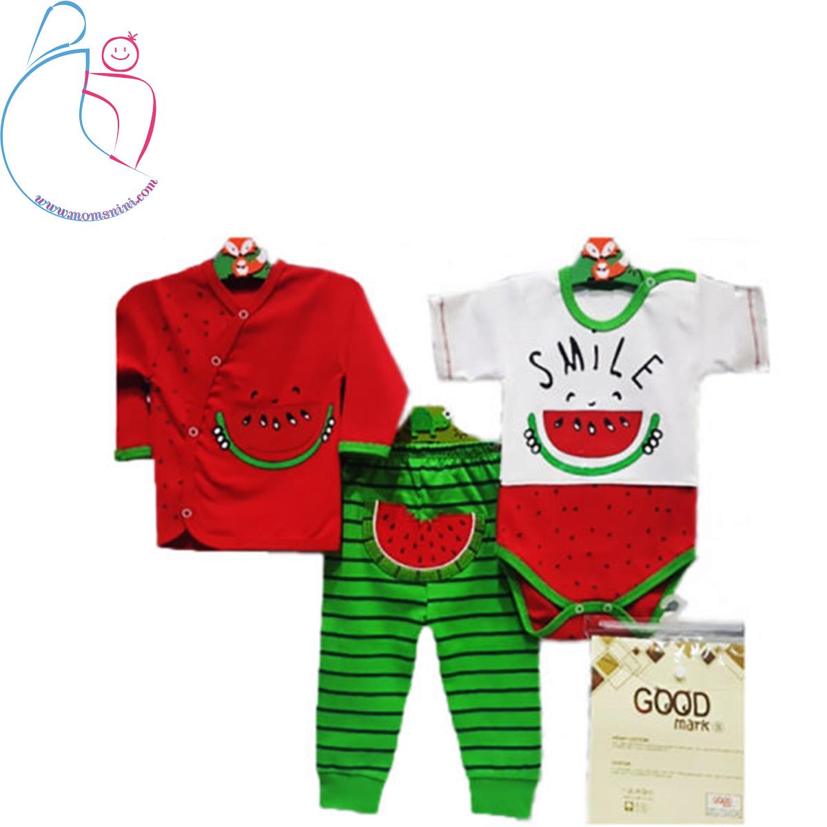 ست ۳ تکه لباس کودک Good mark طرح هندوانه