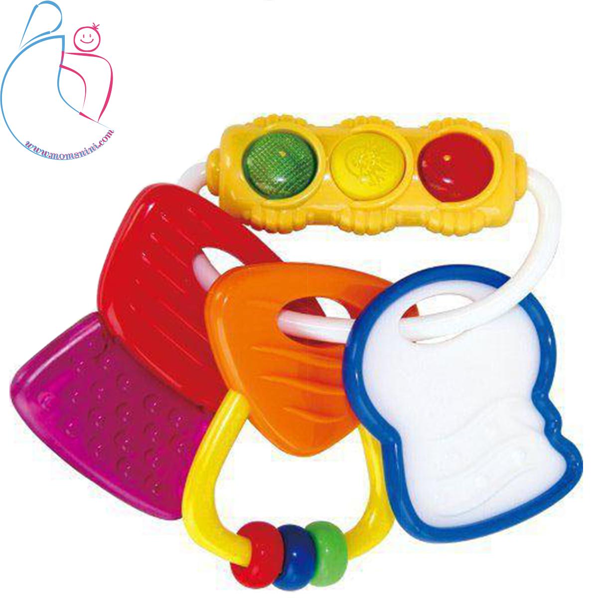 جغجغه دندانگیر هویلی تویز Hulie toys چراغ دار دسته کلیدی