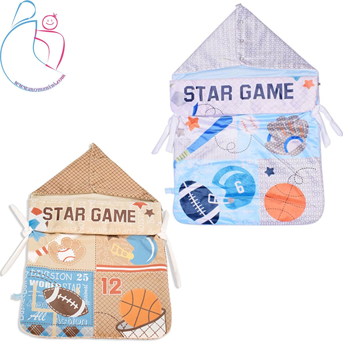 قنداق فرنگی زیپ دار طرح STAR GAME
