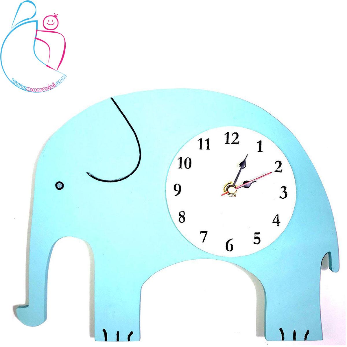 ساعت دیواری چوبی اتاق کودک پارمیس مدل فیل