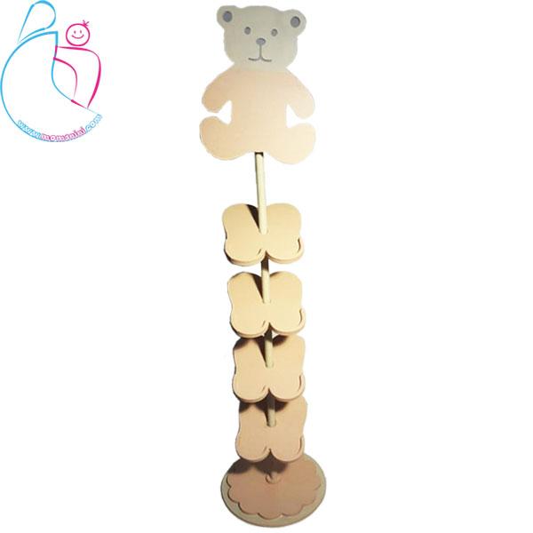جاکفشی چوبی اتاق کودک پارمیس مدل خرس
