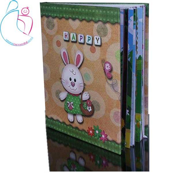 آلبوم عکس خاطرات کودک طرح خرگوش