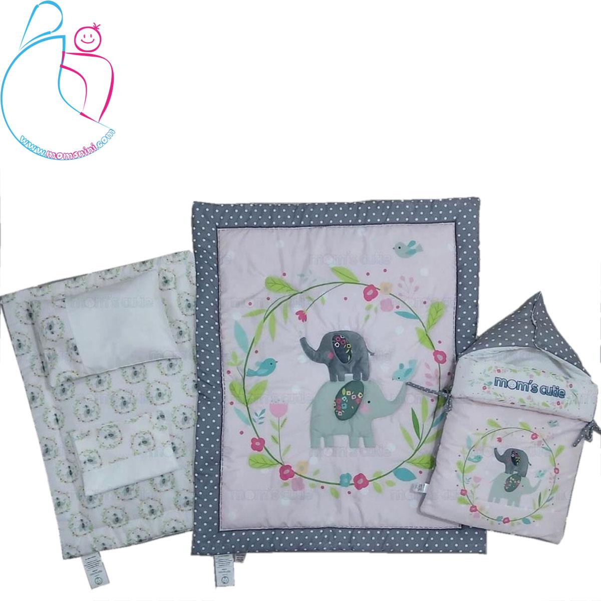 سرویس خواب ۴ تکه کودک مدل فیل و گل