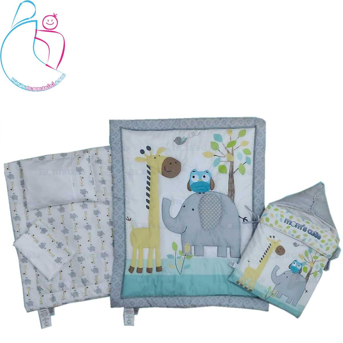 سرویس خواب ۴ تکه کودک مدل فیل و زرافه