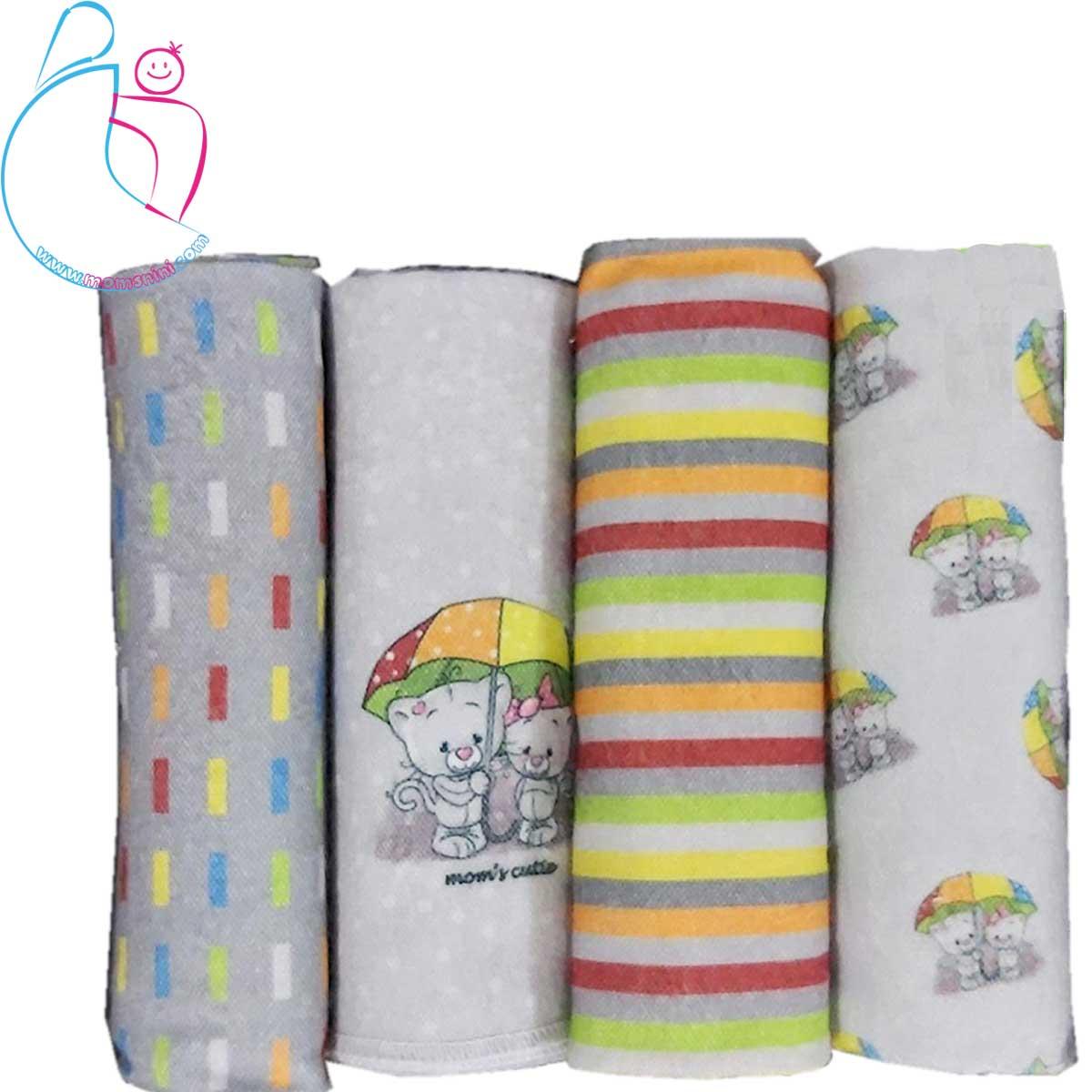 بسته ۴ تایی خشک کن  زیرانداز مامز کیوتی مدل گربه چتری