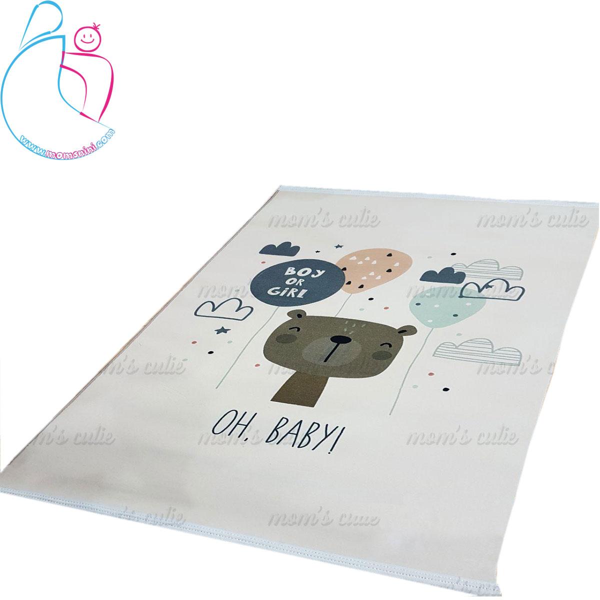 فرش فانتزی اتاق کودک مدل خرس کارتونی