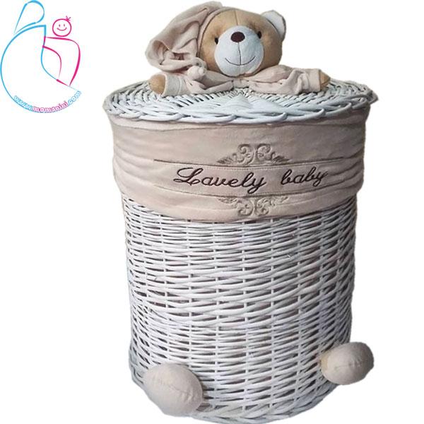 سبد لباس و اسباب بازی بزرگ آرامیس مدل خرس